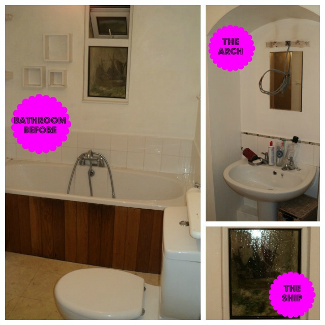 bathroom collage before