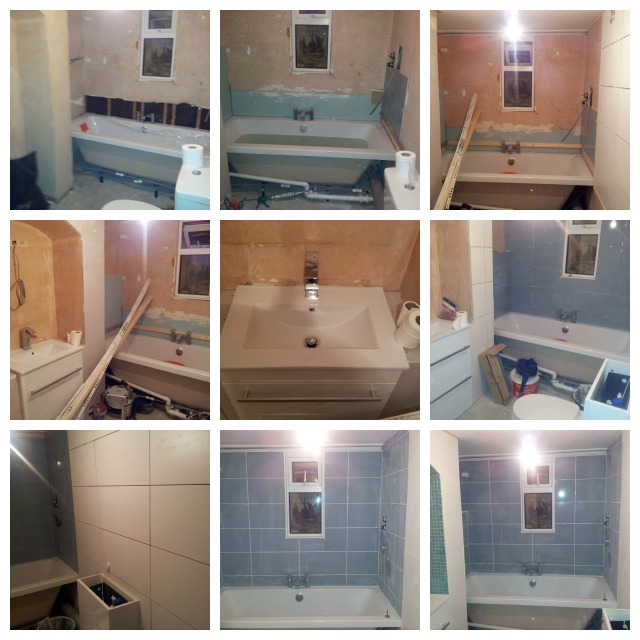 bathroom transformation step by step