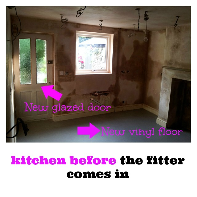 kitchen before fitting