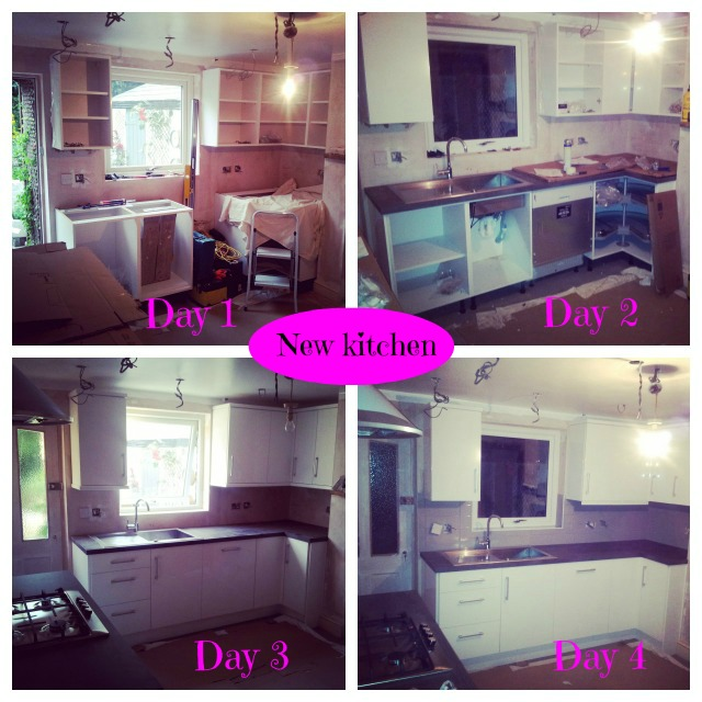 kitchen fitting day by day