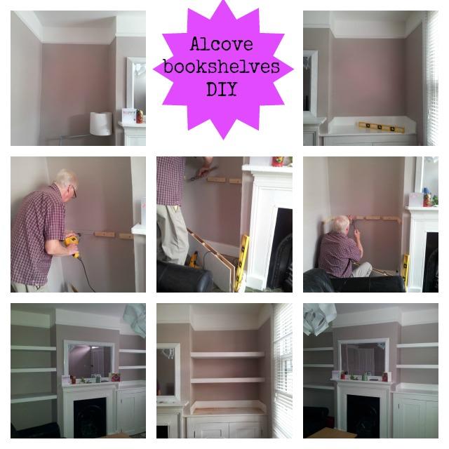 Alcove bookshelves-Victorian house-DIY