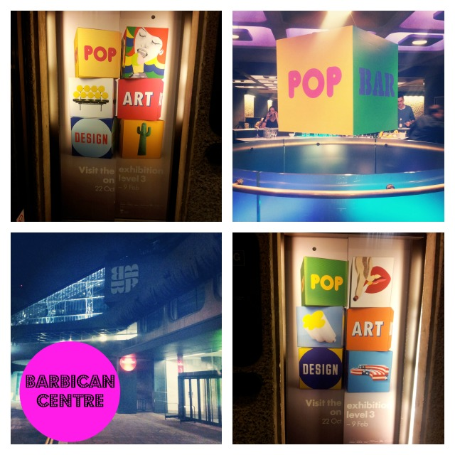 Pop art design exhibition at Barbican centre
