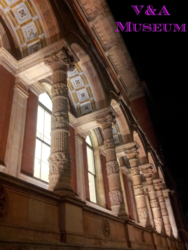 Victoria and Albert museum by night