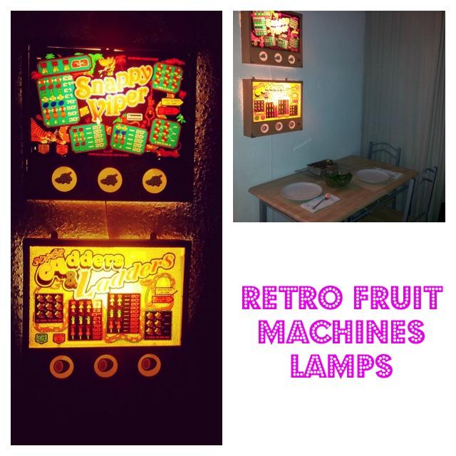 Retro fruit machine lamps
