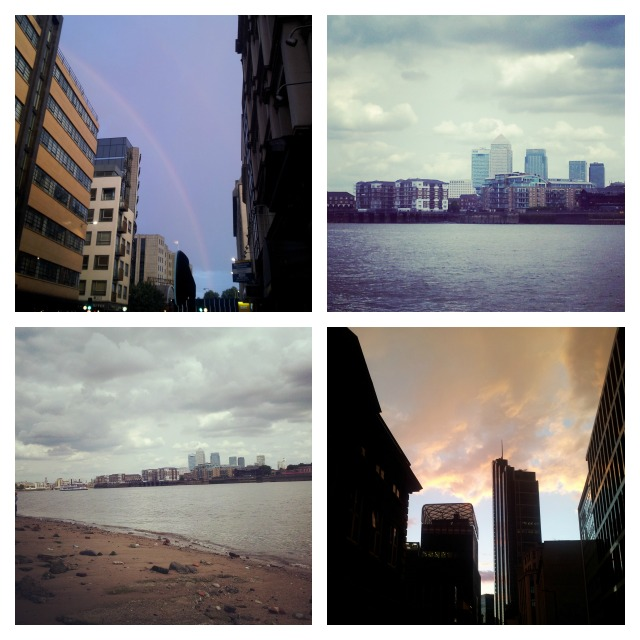 Urban tourist, urban beach, London, Canary Wharf and City
