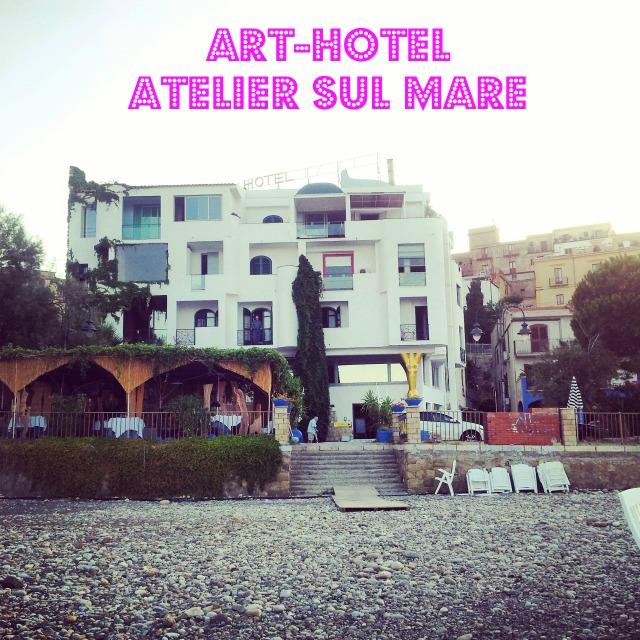 Atelier sul Mare, front of arthotel, Tusa, Sicily