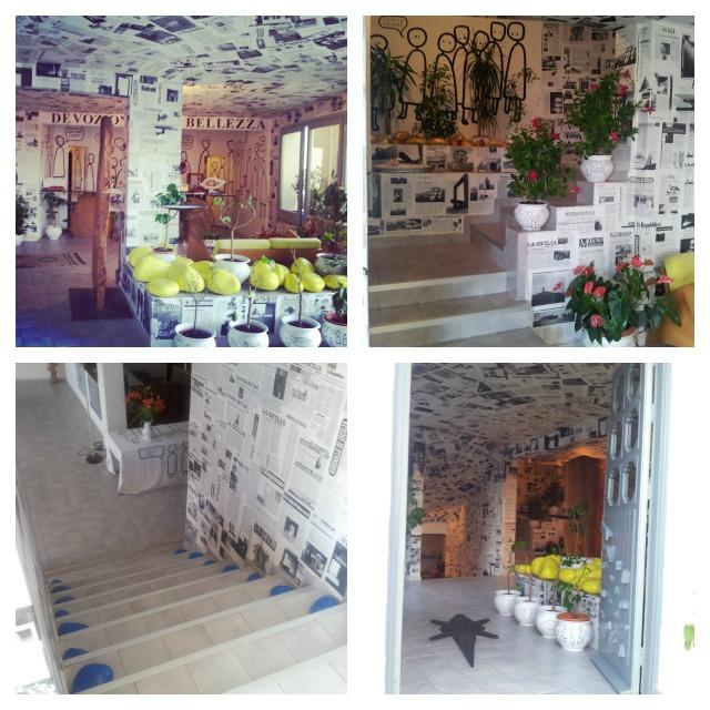 Atelier sul mare, reception area, arthotel, Tusa, Sicily