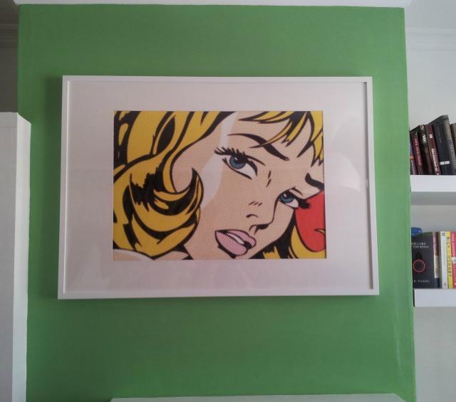 Lichtenstein reproduction, pop art