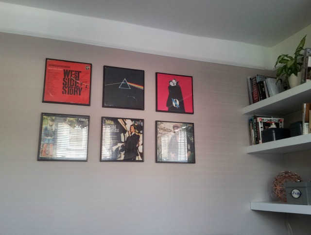 Vinyl album covers gallery wall