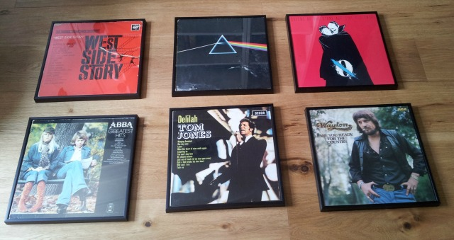 Vinyl albums arrangement