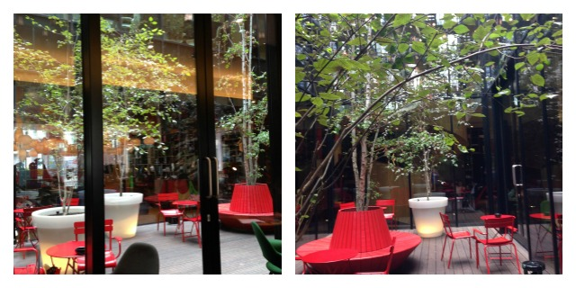 CitizenM London courtyard, green space
