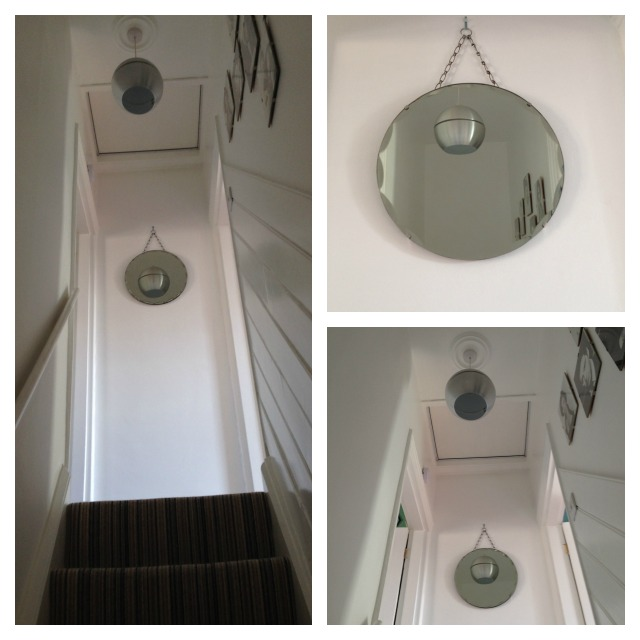 Hallway chain mirror
