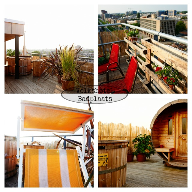 Volkshotel Badplaats, rooftop mini spa, Volkshotel Amsterdam