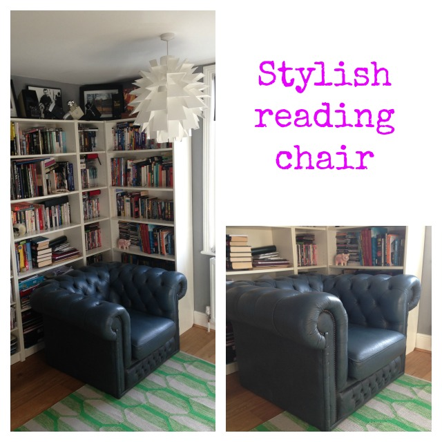 Library, reading chair, Chesterfield, chesterfield in blue