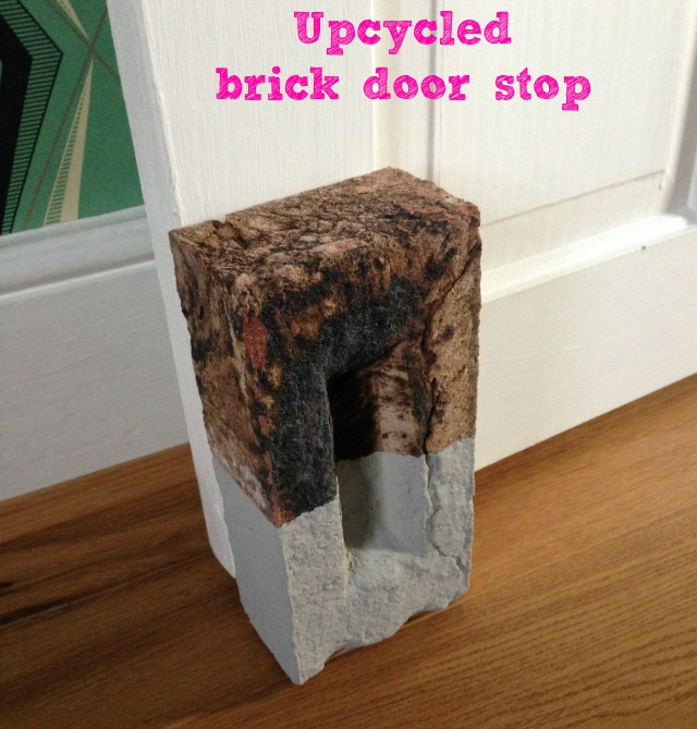 Upcycled brick door stop