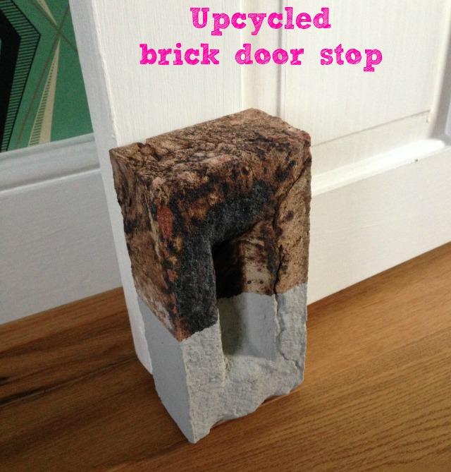 Upcycled brick door stop