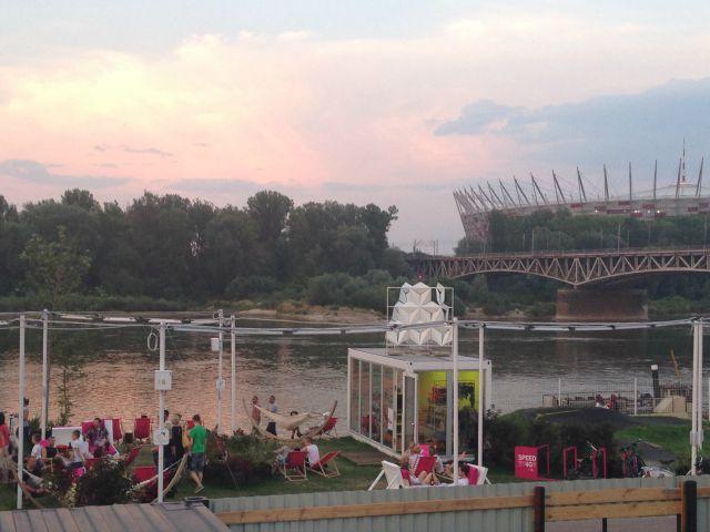 Warszawa Powisle, by the river, Metro Centrul Nauki Kopernik