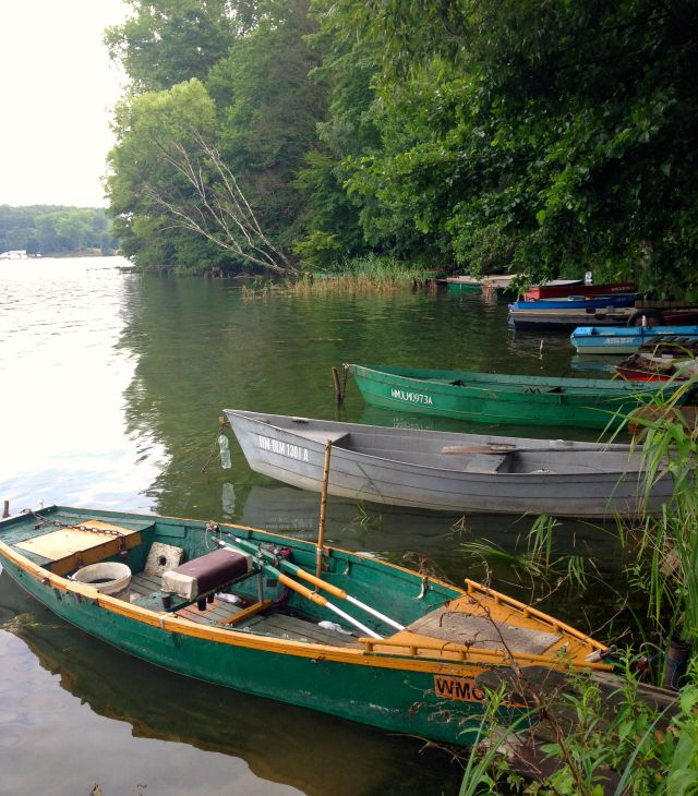 ake Ukiel, old boats, lake, Polish lake district