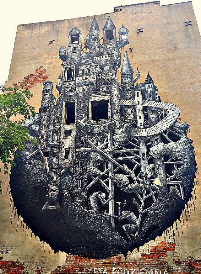 Phelgm mural, Minska, castle mural, Warsaw mural