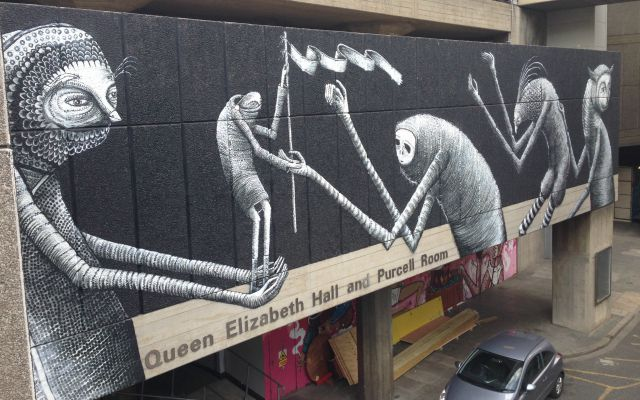 Phlegm new South bank mural