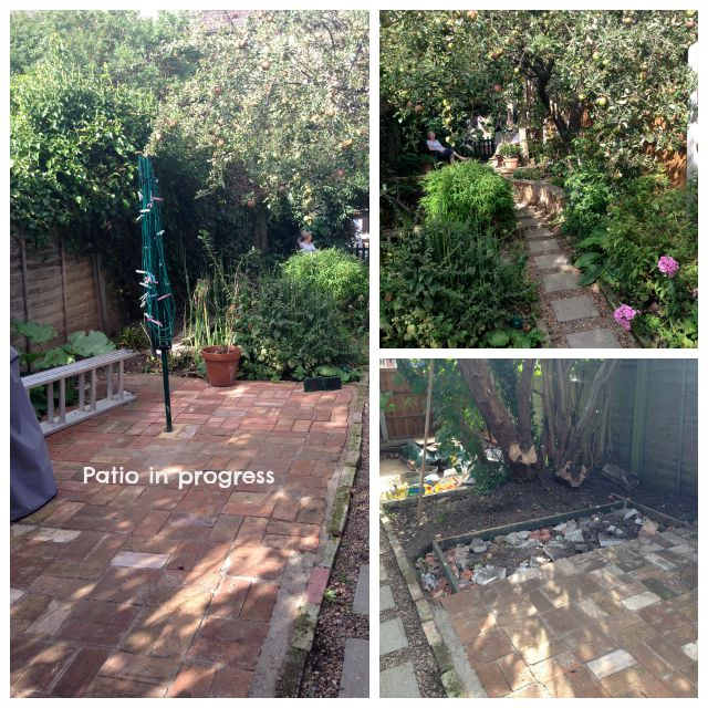 Recycled brick patio, secretgardenhome