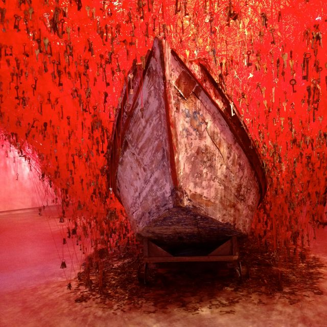 Chiharu Shota, They key in the hand, Japanese pavillion, Gardini, Venice Biennale